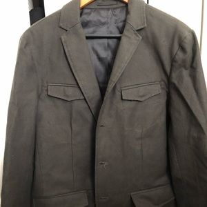 Kenneth Cole charcoal /black blazer